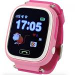 SmartWatch TD-02 (Q100) GPS-Tracking Wifi Watch Pink