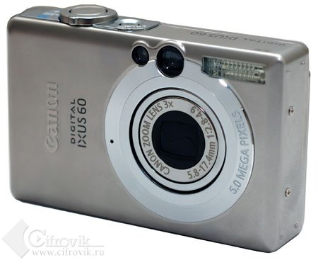 Canon Digital IXUS 60 – круг в квадрате